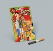 Glimmstengel,  2x glühende / glimmende Zigaretten mit viel Asche als Scherzartikel