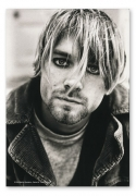 Flagge / Fahne Kurt Cobain Portrait, Fahne Nirvana