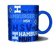Tasse HSV Schriften Hamburg Kaffeebecher