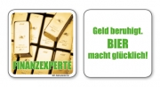 witzige Bierdeckel mit Spruch: Finanzexperte ... 8 Stück, Untersetzer aus Vollpappe bedruckt mit Fun - Spruch
