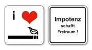 witzige Bierdeckel mit Spruch: Impotenz schafft Freiraum, 8 Stück, Untersetzer aus Vollpappe bedruckt mit Fun - Spruch