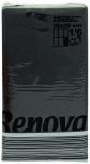 Servietten schwarz RENOVA, Tafel - Servietten aus Papier, 25 Stück farbecht, 30 x 39 cm
