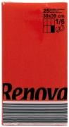 Servietten rot RENOVA, Tafel - Servietten aus Papier, 25 Stück farbecht, 30 x 39 cm