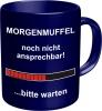 Tasse mit Fun Spruch: MORGENMUFFEL! witzige Kaffeetasse / Becher im Geschenkkarton, Kaffeepott