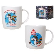 Becher Einhorn Tasse Unicorn Geschenk Kaffeebecher