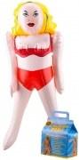 Aufblasbare Frau perfekte Frau Aufblasen in Geschenkbox Gummipuppe Scherzartikel, Partyspaß