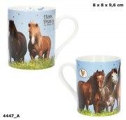 Becher Horses Dreams Depesche Golddruck Tasse Pferde