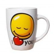 Kaffeebecher Smile Face I LOVE YOU Tasse Geschenk Liebe