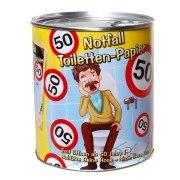 Toilettenpapier 50. Geburtstag in Dose WC Klopapier 50 Jahre Geschenk