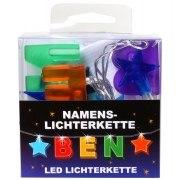 LED Namens-Lichterkette BEN Lichterkette Name Deko innen
