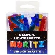 LED Namens-Lichterkette MORITZ Lichterkette Name Deko innen