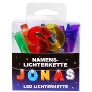 LED Namens-Lichterkette JONAS Lichterkette Name Deko innen