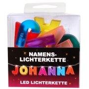 LED Namens-Lichterkette JOHANNA Lichterkette Name Deko innen