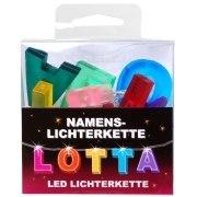 LED Namens-Lichterkette LOTTA Lichterkette Name Deko innen