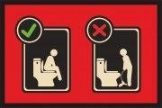 Fußmatte Klomatte Toilette