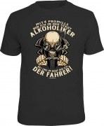 T-Shirt 4 Promille Stadt Alkoholiker Dorf Fahrer Bier