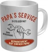 Tasse mit Fun Spruch: PAPAS SERVICE Vater Dad