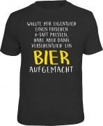 T-Shirt habe versehentlich ein Bier aufgemacht