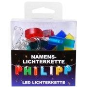 LED Namens-Lichterkette PHILIPP Lichterkette Name Deko innen