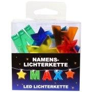 LED Namens-Lichterkette MAX  Lichterkette Name Deko innen