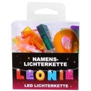 LED Namens-Lichterkette LEONIE Lichterkette Name Deko innen
