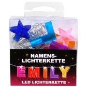 LED Namens-Lichterkette EMILY Lichterkette Name Deko innen