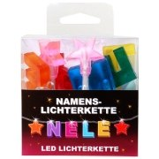 LED Namens-Lichterkette NELE Lichterkette Name Deko innen
