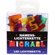 LED Namens-Lichterkette MICHAEL Lichterkette Name Deko innen