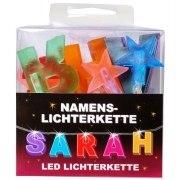 LED Namens-Lichterkette SARAH Lichterkette Name Deko innen