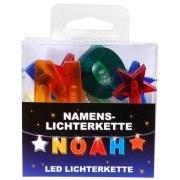 LED Namens-Lichterkette NOAH Lichterkette Name Deko innen