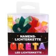 LED Namens-Lichterkette GRETA Lichterkette Name Deko innen