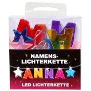 LED Namens-Lichterkette ANNA Lichterkette Name Deko innen