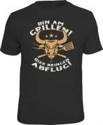 Fun Shirt BIN AM GRILLEN Bulle T-Shirt Spruch witzig Geschenk