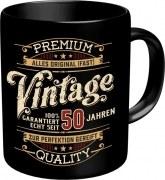 Tasse Spruch: VINTAGE 50 Jahren Kaffeetasse Becher