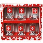 Schnapsglas 50. Geburtstag 6 Stück Medizin Schnapsgläser