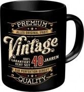 Tasse Spruch: VINTAGE 40 Jahren Kaffeetasse Becher