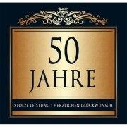 Aufkleber 50 JAHRE, Etikett Sektflasche Flasche selbstklebend Goldene Hochzeit