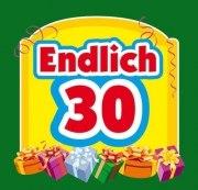 Aufkleber ENDLICH 30 ! Etikett Sektflasche Flasche selbstklebend