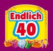 Aufkleber ENDLICH 40 ! Etikett Sektflasche Flasche selbstklebend