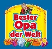 Aufkleber BESTER 0PA Etikett für Sektflasche Flasche selbstklebend Geschenk