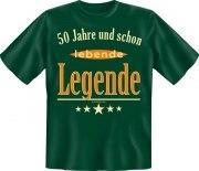 Fun Shirt 50 und schon lebende Legende T-Shirt Spruch