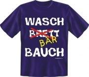 Fun Shirt WASCH BRETT BÄR BAUCH dick T-Shirt Spruch