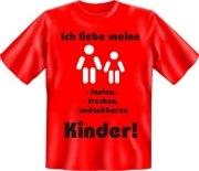 Fun Shirt Ich liebe meine Kinder Mutter Vater T-Shirt Spruch witzig Geschenk