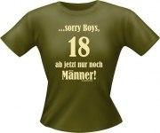 T-Shirt Lady Girlie 18 nur Männer PARTY Shirt Spruch witzig Fun