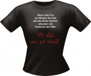 T-Shirt Lady Girlie MORGEN wach  PARTY Shirt Spruch witzig Fun