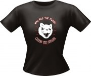 T-Shirt Lady Girlie Katze PUSSY PARTY Shirt Spruch witzig Fun