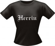 T-Shirt Lady Girlie HERRIN PARTY Shirt Spruch witzig Fun