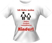 T-Shirt Lady Girlie KINDER FAUL PARTY Shirt Spruch witzig Fun