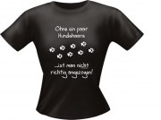 T-Shirt Lady Girlie Hunde Haare PARTY Shirt Spruch witzig Fun
