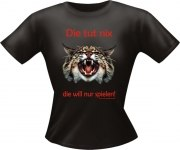 T-Shirt Lady Girlie Katze tut nix PARTY Shirt Spruch witzig Fun